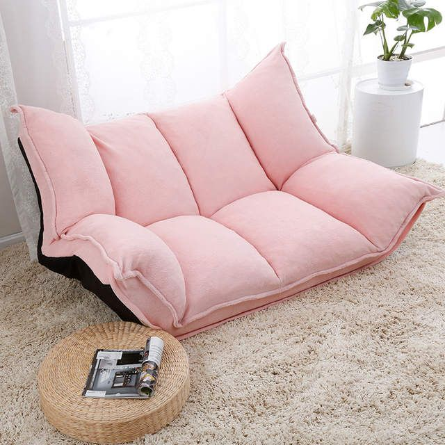 Online Shop Adjustable Fabric Folding Chaise Lounge Sofa Chair Floor Couch Living Room Furniture Sofa Daybed Sleeper Chaise Lounge Sofa Floor Couch Lounge Sofa