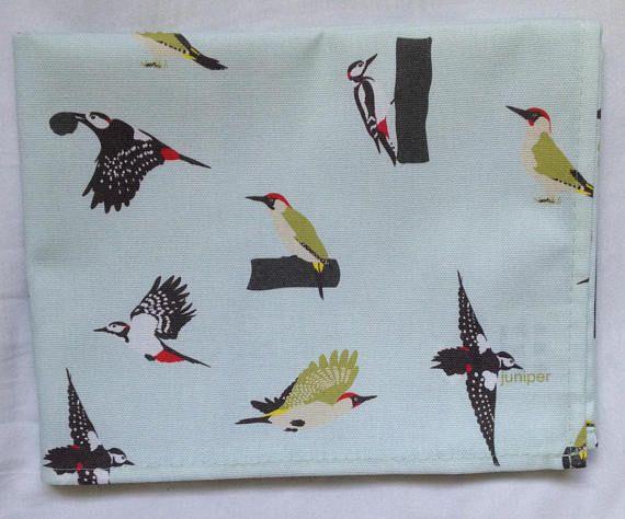 Woodpecker tea towel  woodpecker kitchen towel  woodpecker