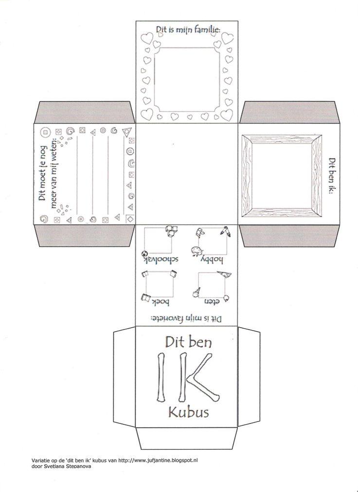 Variatie op de 'dit ben ik' kubus van http://www.jufjantine.blogspot.nl     door…