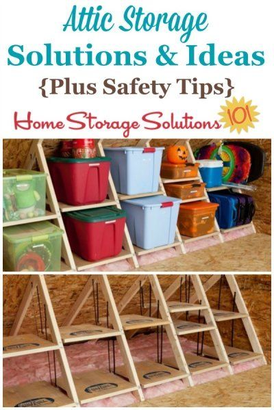 Tips and ideas for the attic storage solutions, keeping in mind both practical and safety concerns with storing items in this area of your home.