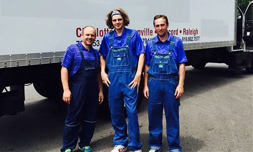 Guys from 485 Movers, a moving company in Charlotte, North Carolina. Always ready to help you move!