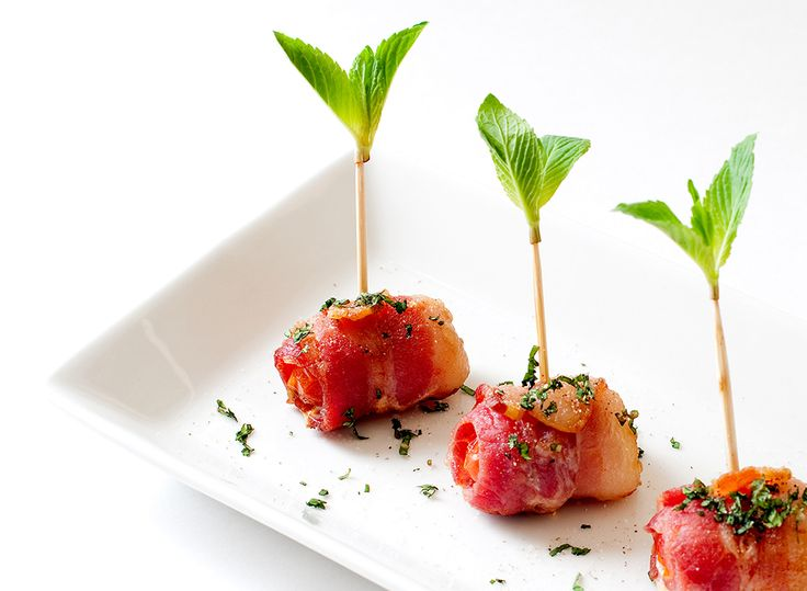 Honingtomaten met bacon en mozzarella