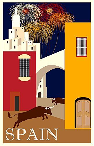 'Spain' - Wonderful A4 Glossy Art Print Taken From A Rare... https://www.amazon.co.uk/dp/B01I0Z63N4/ref=cm_sw_r_pi_dp_G6jFxbXG6Y5VE
