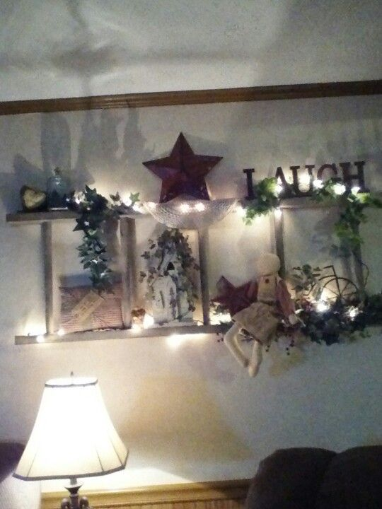 Old ladder idea makes great decor!