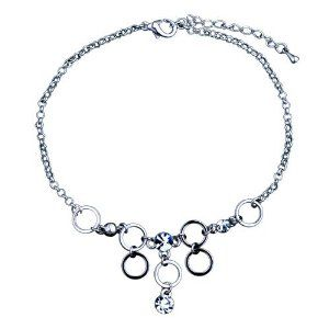 Pugster Dangle Circle Crystal Bracelet Charm Pugster. $15.49. Weight (gram): 6. Size (mm): 26.40*61.88*22.33. Save 63% Off!