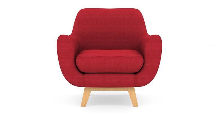 Brosa Filip Modern Danish Style Armchair - Passion Red | $699.00