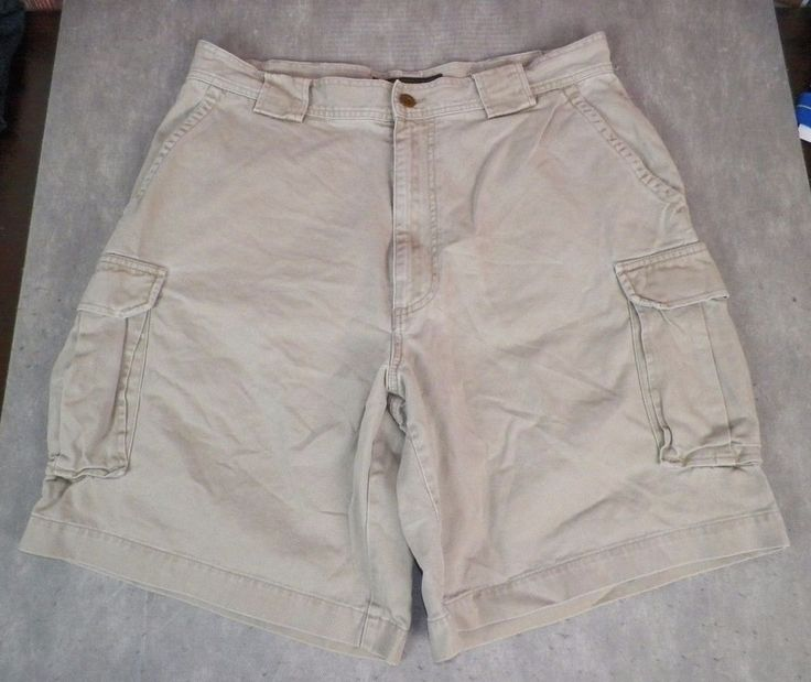 Abercrombie and Fitch Men's Khaki Cargo Shorts Size 36 #AbercrombieFitch #Cargo