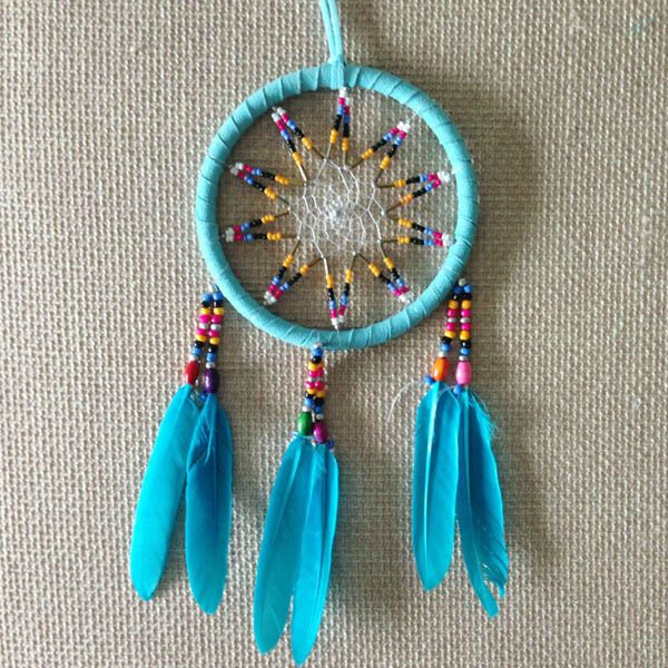Hot!!! 2016 Hot Sale High quality Shipping Free DIA 4 inch Feather Native American Feather Dream Catcher