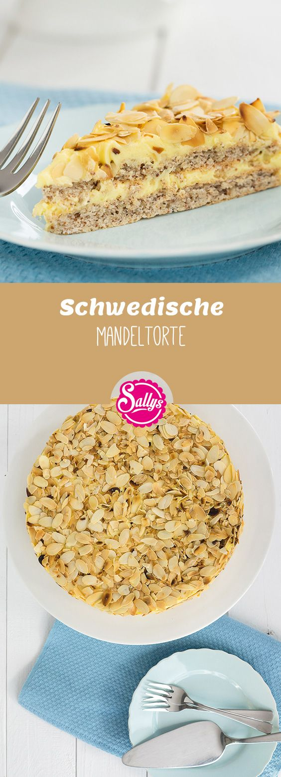 Diese Schwedische Mandeltorte gehört zu meinen Lieblingsrezepten: weicher Mandel-Baiserteig trifft aromatische Mandel-Creme. Super leicht. Super lecker. Super einfach.
