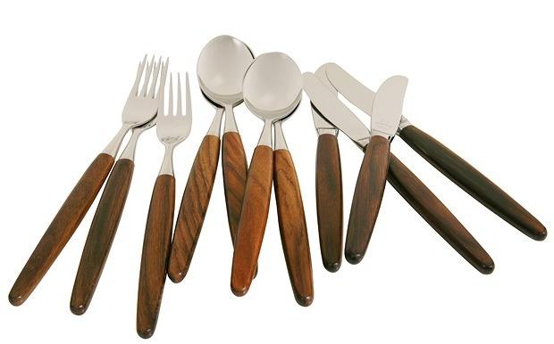 Skagum dinnerware, teak and palisander, since 1940s