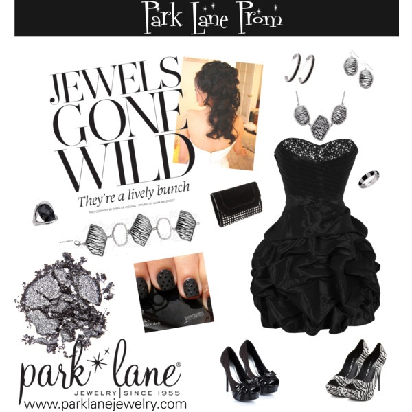 Jewels Gone Wild, created by parklanejewelry  Park Lane Jewelry featured: Wild Stripes necklace, bracelet and earrings, Francais ring, Noche Ring and On the Town earrings.