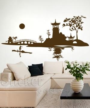 Oriental Landscape wall decal  Αυτοκόλλητο τοίχου Ανατολή