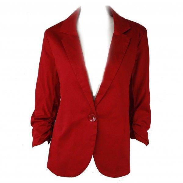 Unka Red Tailored Statement Blazer