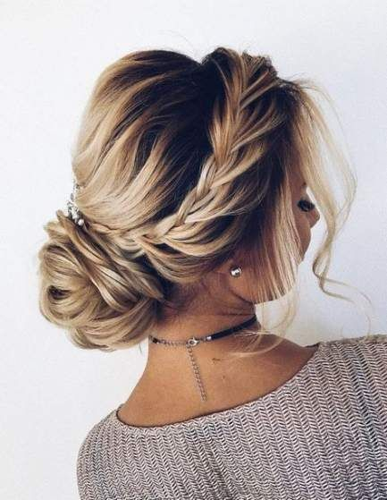 18+ Ideas Wedding Hairstyles Elegant Updo French Twists For 2019