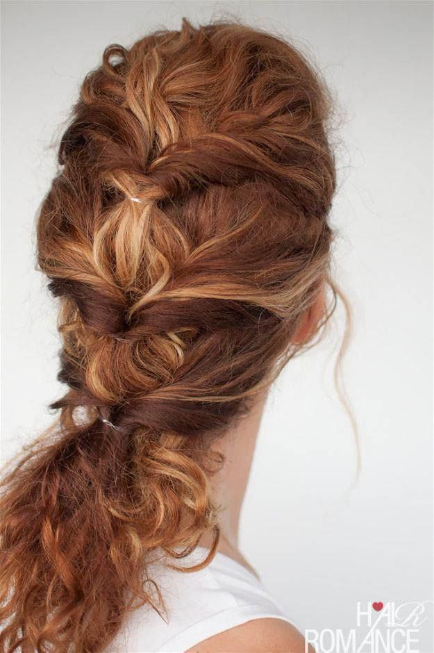 Curly Twist | 20 Hairstyles for Work | Quick and Easy ...