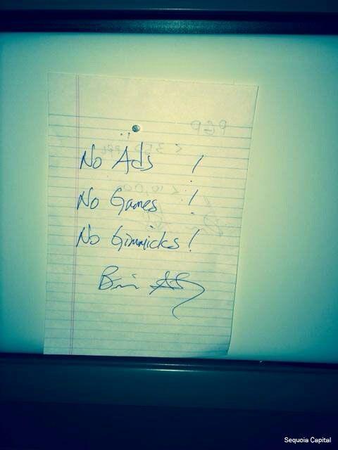 The note about focus that WhatsApp CEO Jan Koum kept on his desk. Source: Brian Acton.