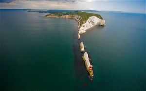 The needles off the Isle of Wight. Britain from Above: Month by Month published by Dorling Kindersley