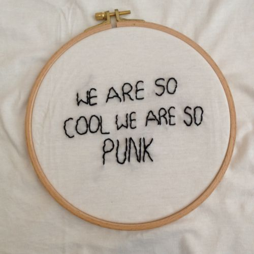 Black and White lyrics embroidery Band mystuff The Front Bottoms Brian Sella Mathew Uychich twelve feet deep