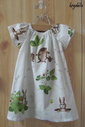 Free Printable little girl peasant dress pattern Size 12 months | Krydasu: Little girls peasant dresses