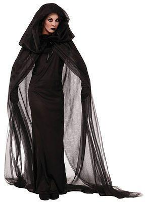 Schwarzes langes kleid halloween