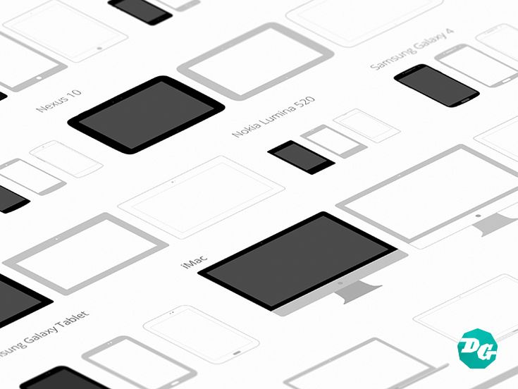Free Download : Flat Device Templates