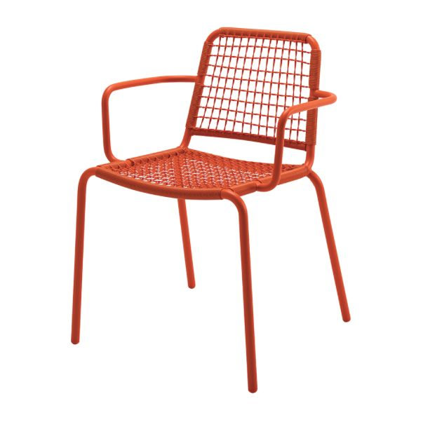 Nomad Woven Stacking Chair W Arms