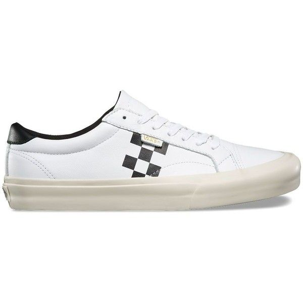 Vans Checker Court ($75) ❤ liked on Polyvore featuring men's fashion, men's shoes, white, mens leopard print shoes, mens tennis shoes, vans mens shoes, mens white tennis shoes and mens white shoes