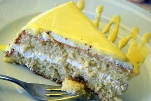 Easy Luscious Lemon Cake from CDKitchen.com This cake doesn't look anything like the photo shown. This is a very delicious and moist cake.