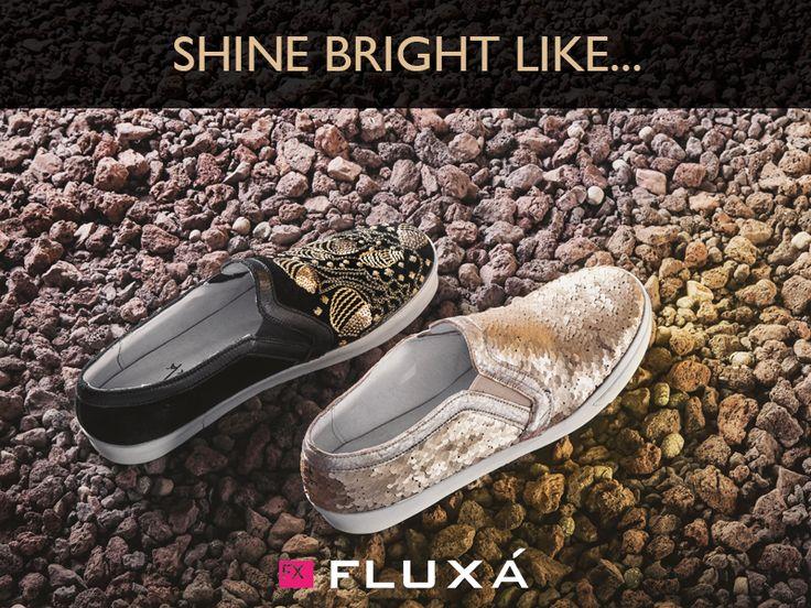 Shine Bright like... #FLUXÁ #shoes #trends #slipon #fashion