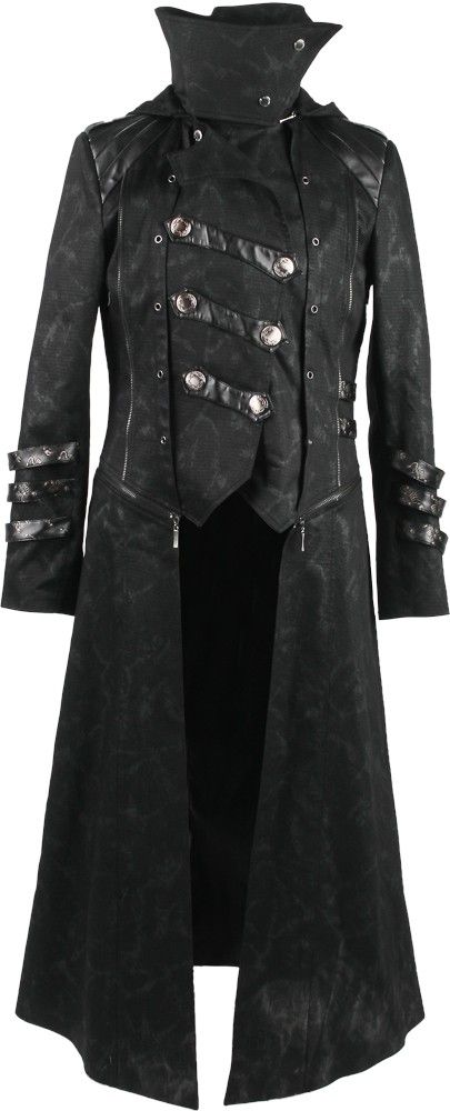 Men's 2-in-1 gothic coat by Punk Rave http://www.the-black-angel.com/mens-coats/1327-long-or-short-punk-rave.html