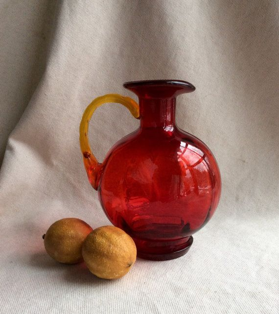 MidCentury French Art Glass Wine Carafe  by GentlemanlyPursuits