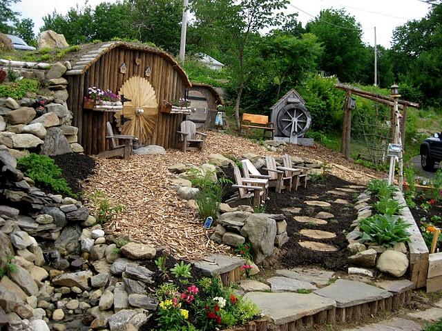 Beautiful children's garden.