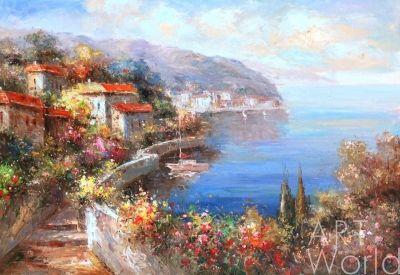 картина масло холст Терасса на Средиземноморье, Анджей Влодарчик, LegacyArt