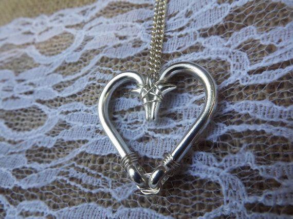 fishing hook heart necklace #fishing #FishHook #GirlsWhoFish