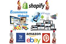 Your online store and your mobile app. One million visitors, sales on Facebook, Amazon, Ebay and Pinterest and another 400 channels.  Implementing - Administering - Managing.  All inclusive.  Only that your business develops.