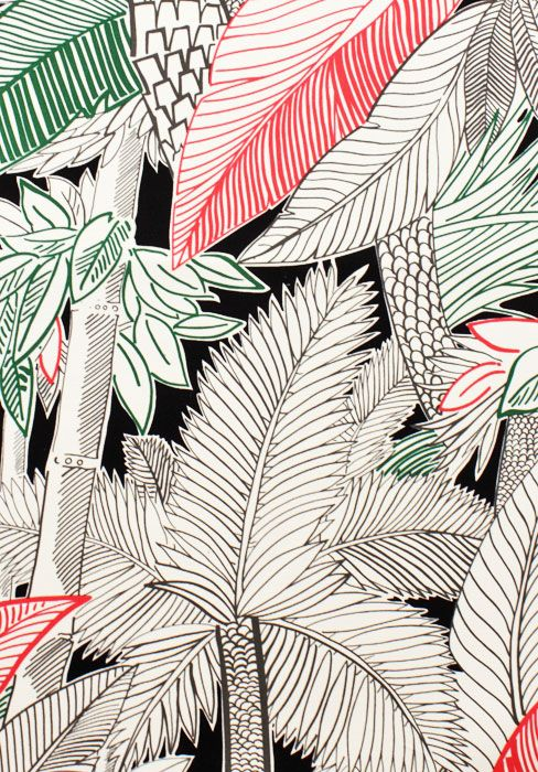 """I'm a little surprised at myself for not having pinned anything from Alexander Henry before. Based in Burbank, California and helmed by Marc, Phillip and Nicole de Leon, it is one of a handful of solid, serious global fabric design studios. Love this hand drawn piece in coloured marker called """"Bahia,"""" artist uncredited."""