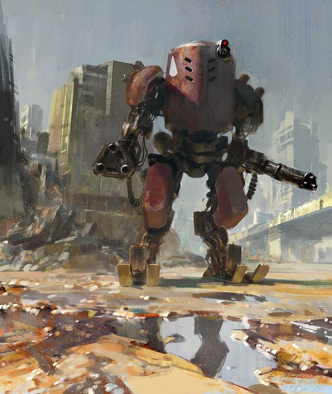 Robot Concept Art by Yun Ling