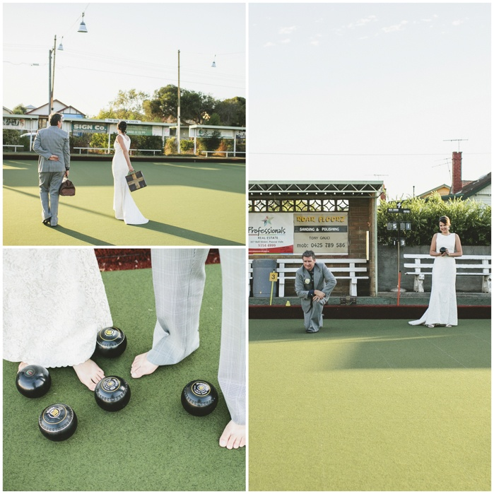 The Bowls Club Wedding » Love Katie + Sarah Wedding hair and makeup by Rebecca Paris #wedding hair #vintage weddings
