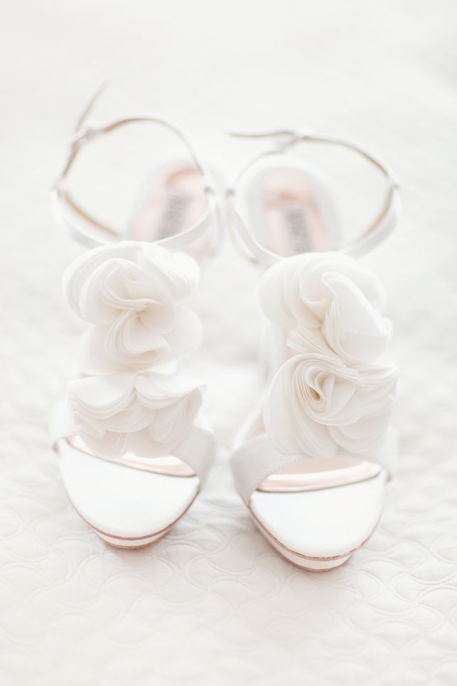 T Strap Shoes With Sheer Rosettes   photography by http://simplybloomphotography.com/