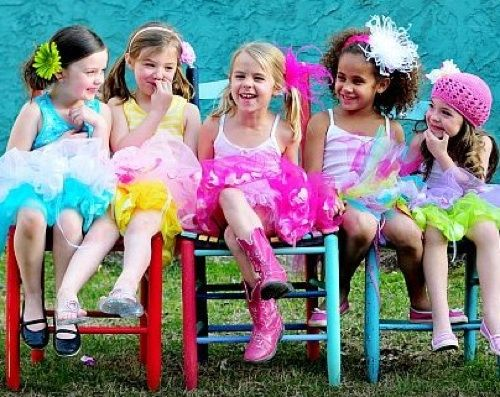 party games for girls. Everyone gets or wears tutus. Of course my daughter will have the biggest lol