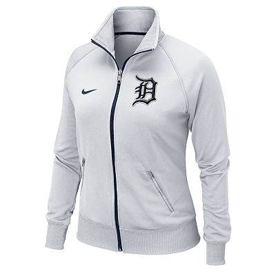 Nike Detroit Tigers Track Jacket - Women. I have this in blue but want this color as well lol!