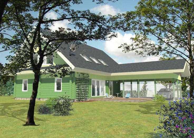 Kastan est une maison familiale classique et gracieuse.La forme de la maison est rectangulaire et le toit vient recouvrir le carport et le porche d'entrée.  Au rez-de-chaussée est localisée une cuisine à l'américaine. L'entrée est s...