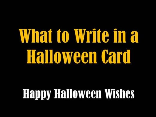 halloween messages jokes and poems to write in a card - What To Say In A Halloween Card