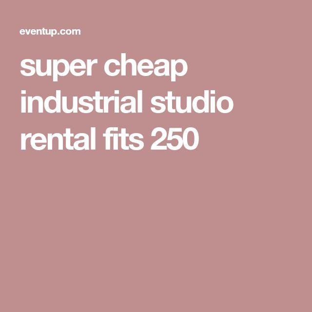 super cheap industrial studio rental fits 250