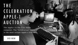 Rare Apple 1 charity auction bids have already reached $500000     - CNET  Enlarge Image                                              CharityBuzz                                          If you are a fan of Apple want to own a piece of tech history and have oodles of cash to burn youll be happy to learn a very rare Apple 1 computer has just found its way on to the auction block.   Apples first ever computer the Apple 1 was originally released in 1976 for the ominous price of $666.66…