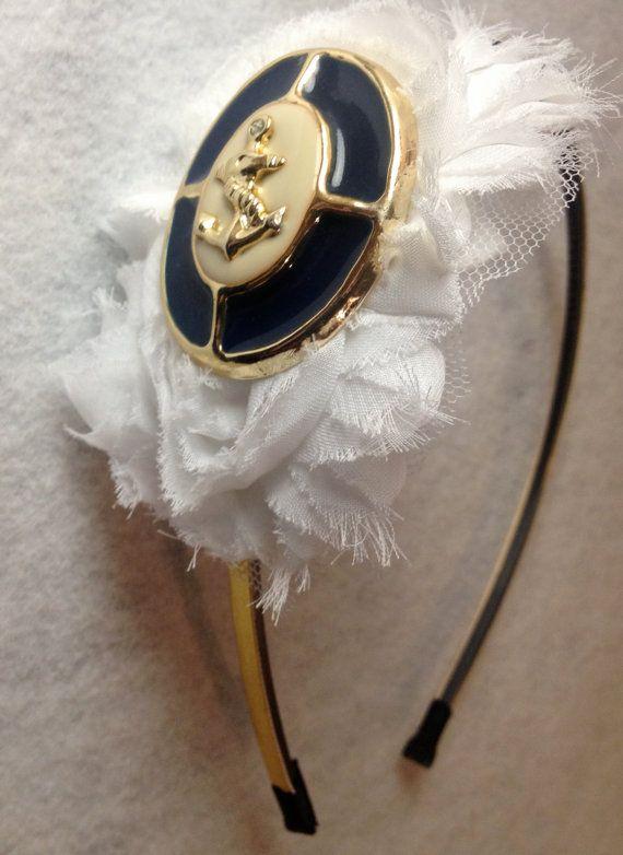 Naval Academy Headband Navy Football Headband US by StellaClare, $10.00