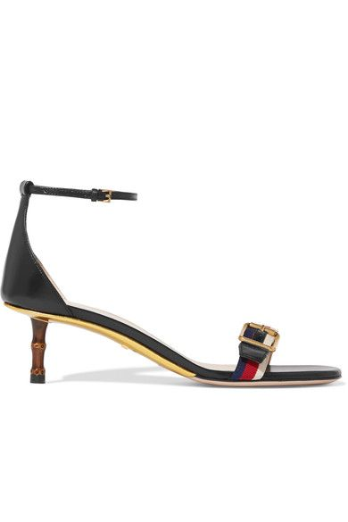 Gucci - Bamboo-trimmed Leather Sandals - Black