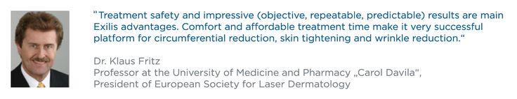 Listen to Dr. Klaus Fritz  #BTLExilis #Professor #University_of_Medicine_and_Pharmacy #Carol_Davila #President #European_Society_for_Laser_Dermatology