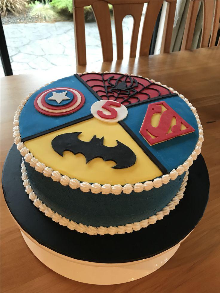 Superhero cake Vegan