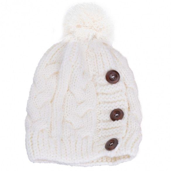 New Fashion Winter Cap Warm Woolen Blend Knitted Stylish Cap Hat